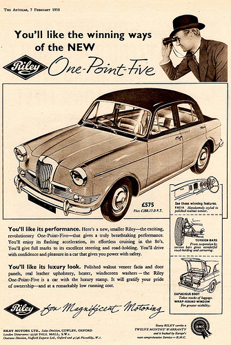 1958 Riley One-Point-Five #10