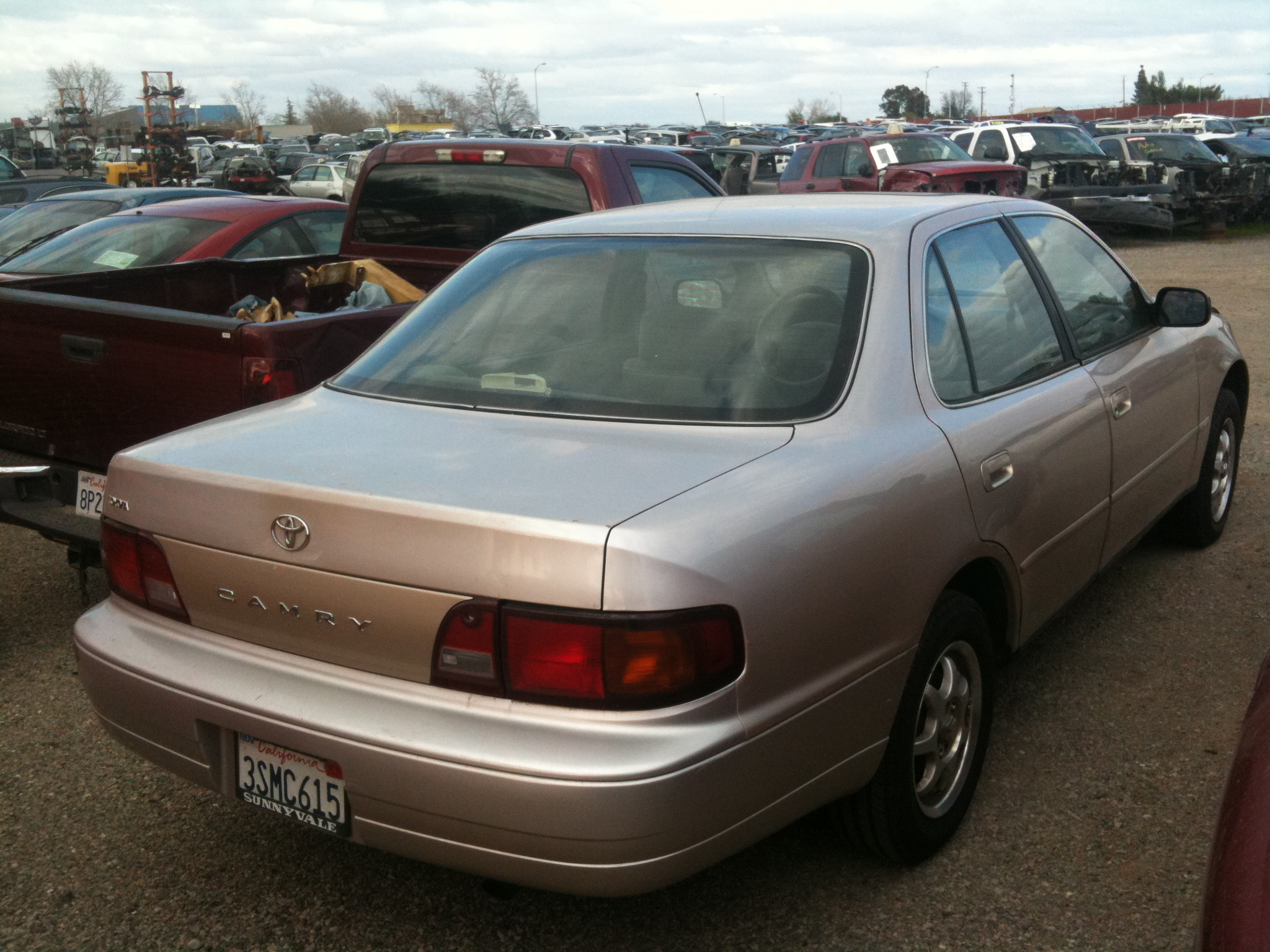 1996 toyota camry curb weight