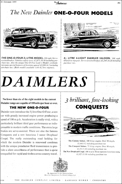 1955 Daimler One-O-Four #5