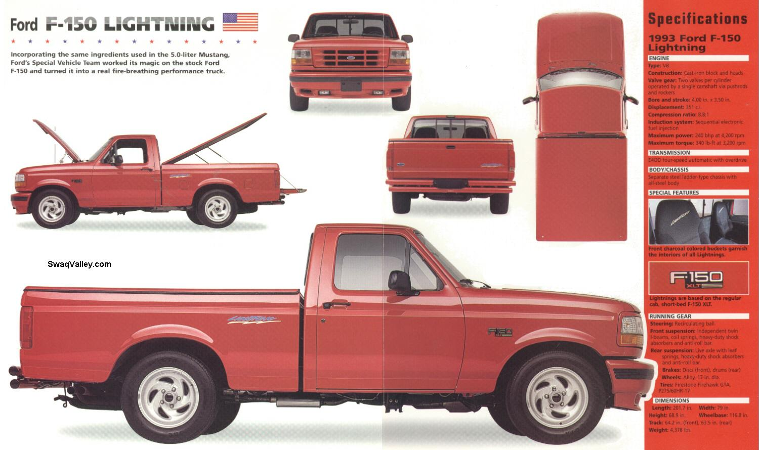 1998 ford f-150 xlt specs