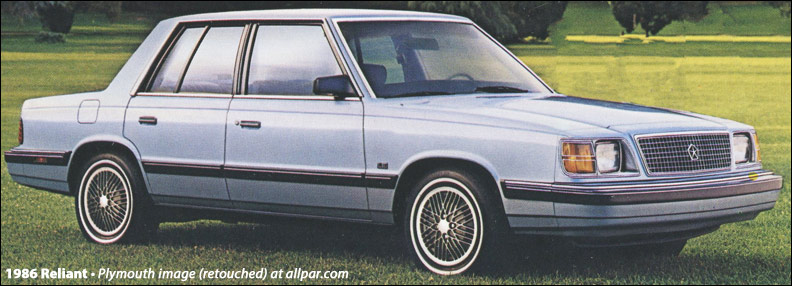 1986 Plymouth Reliant #10