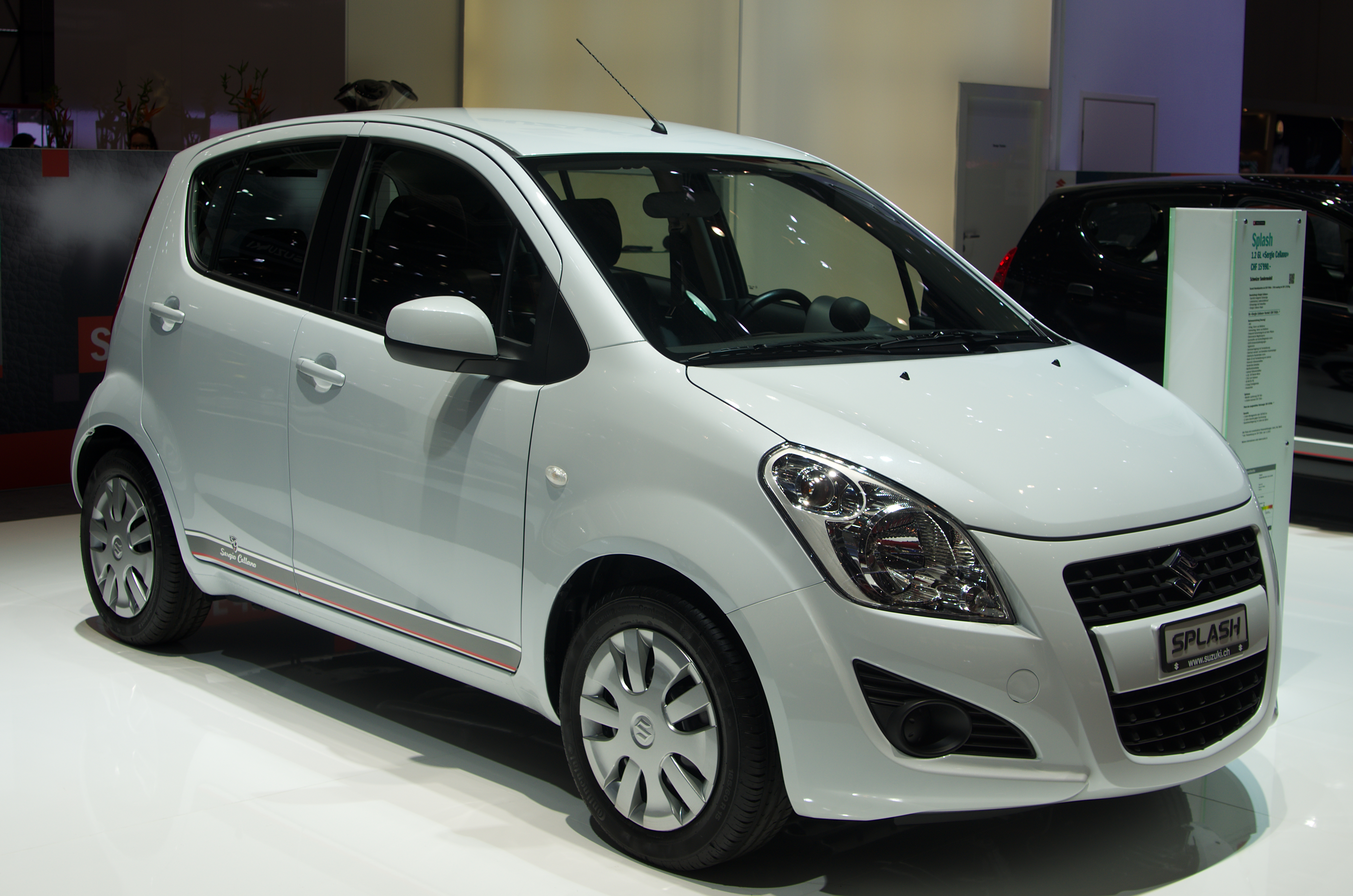 Fiche Technique Suzuki Splash  L'argus