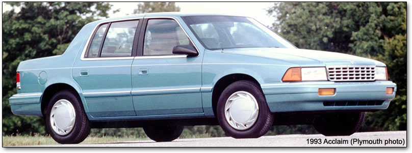 1992 Plymouth Acclaim #6